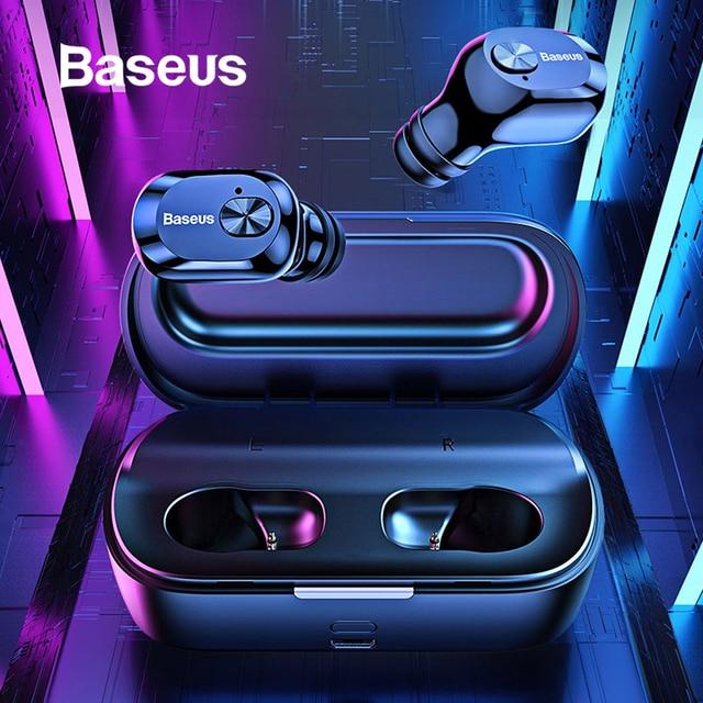 Baseus W01 наушники-вкладыши TWS Bluetooth наушники 5,0 Беспроводной Bluetooth наушники стерео бас Беспроводной наушники С микрофоном для телефона