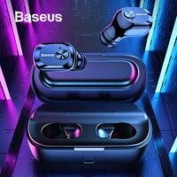 Baseus W01 TWS Bluetooth Earphone 5.0 Wireless Bluetooth Headphone Stereo Bass Wireless earphones With Microphone For Phone
