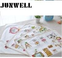 4pcs Set ABCD Assorted Linen Cotton Printing Dishtowel Napkin Kitchen Towel Tea Towel Ultra Durable Pano