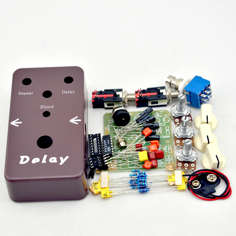 NEW Delay Guitar Effects Pedal Kits  Guitar  True Bypass High quality  Accessories Instrumentos Musical aroma adl 1 true bypass delay electric guitar effect pedal high quality aluminum alloy guitar accessories delay range 50 400ms