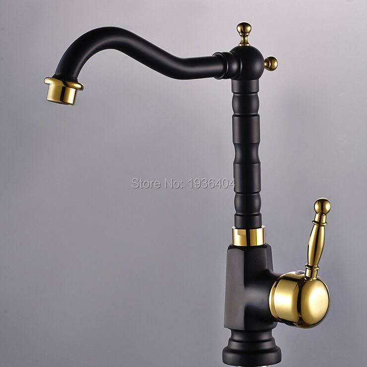 Newly US Kitchen Sink Vessel Faucet Antique Brass Black Mixer Tap ...