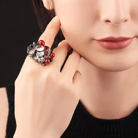 Rings Woman Jewelry Show Gift Chinese Style Fashion Ring Boho Elegant Temperament Jewelry Womens Girls Filled Wedding