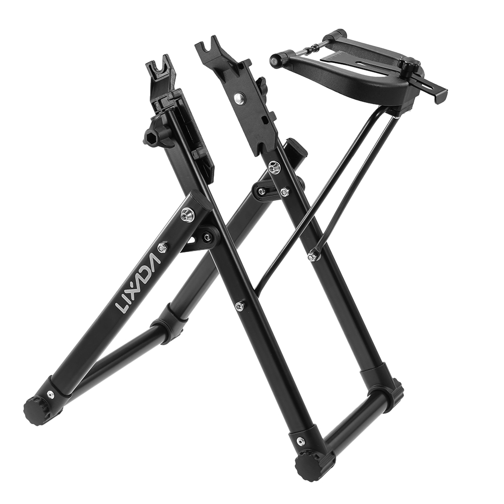 Prix pour Lixada bicyle mécanicien à domicile de dressage de roue stand alliage roue de vélo entretien de la maison dressage stand titulaire soutenir vélo outil de réparation