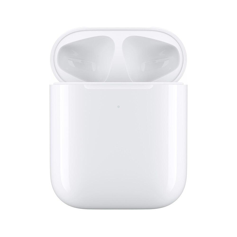 Wireless Charging Fall für AirPods  Apple Original Airpods Lade Fall Drahtlose Ladegerät Box für Airpods 1th und 2th-in Batteriezubehörteile und Ladezubehör aus Verbraucherelektronik bei  Gruppe 1