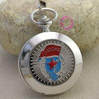 Russian Vingtage Silver Soviet BOLSHEVIK Mechanical FOB Pocket Watch Men Pendant Watches Ancient Retro Red Star
