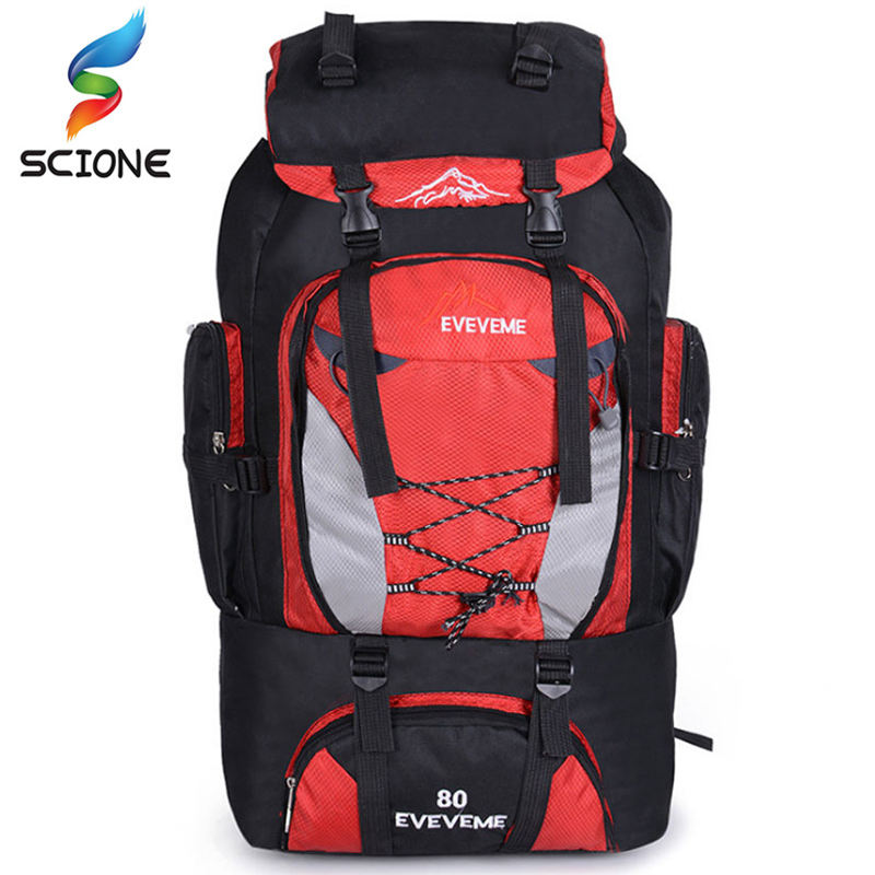 Hot 80L Men's Waterproof Climbing Hiking Backpack Camping Mountaineering Backpack Sport Outdoor Bike Bag Climbing Rucksack стоимость