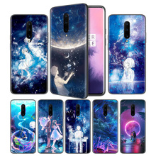 Starry Day Anime Soft Black Silicone Case Cover for OnePlus 6 6T 7 Pro 5G Ultra-thin TPU Phone Back Protective