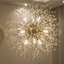 Modern Crystal Chandelier LED Firework Pendant Lamp Dandelion-shaped For Hotel Home living Resturant Bar Lighting GentelWay