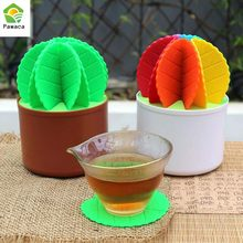 Dining Table Placemat Coaster Cactus Bonsai Shape Table Cup Mats Placemats Drink Pads Cafe Bar Mat Home Decor Tableware Gadgets(China)