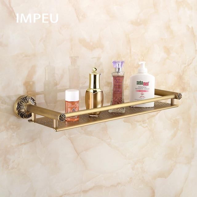 Bathroom Shower Shelf Stainless Steel 50 Cm Caddy Bath Kitchen Floating Antique Bronze