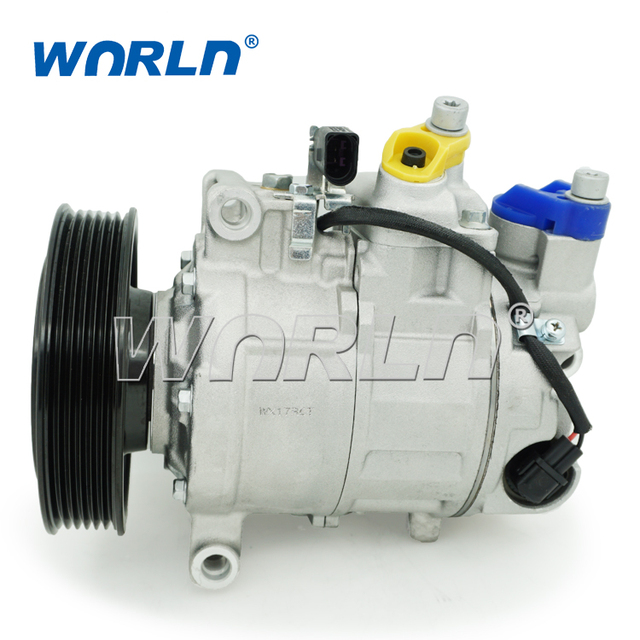 US $152 0  AUTO A/C COMPRESSOR for Audi A6 2004 2011 2 4 2 8 3 0 3 2 A7 2 8  3 0/A6 2 4 3 0 TFSI/Q5 3 2 TFS/S5 3 0I V6/A5 3 2 V6 4F0260805 -in