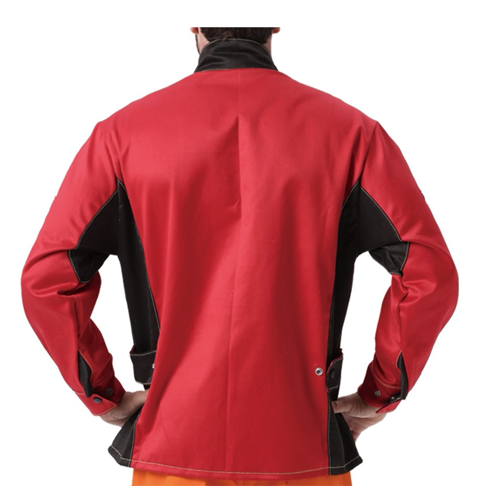 Welding Jacket Flame/Heat/Abrasion Resistant Working Cloths Flame Retardant Cotton Worker Jacket for Welder Safety