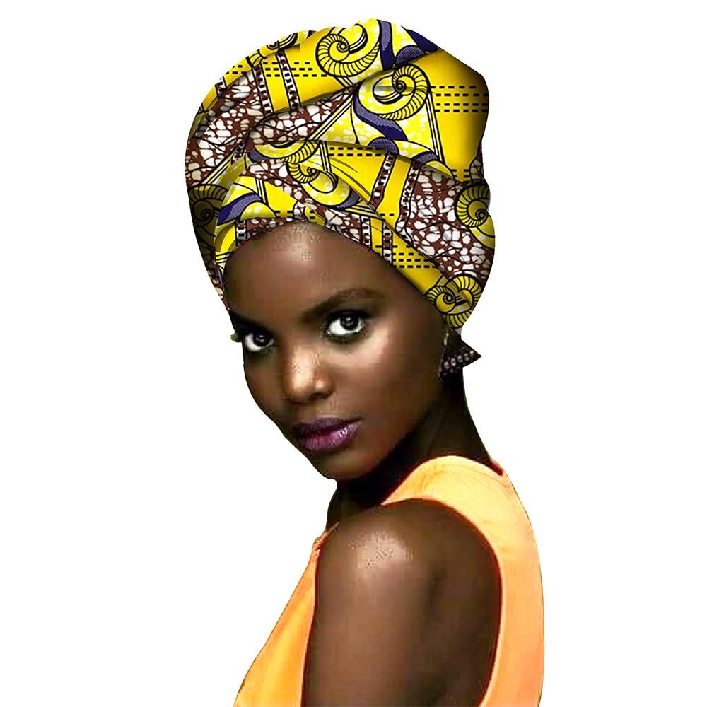 African Fashion Head Scarf Print Wax Cotton Women African Clothing Bazin Rich Headwear A18H001