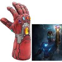 Marvel Avengers 4 Endgame Iron Man Unlimited Gloves Stark Thanos Infinity Stone Cosplay Gloves Latex Hand Gauntlet Cosplay Props