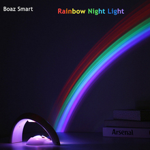 LED Night Lamp Rainbow Projector night light Battery Powered Romantic Atmosphere light Children kids Gift Colorful Home Decor tanbaby led colorful rainbow novelty kids night light romantic sky led projector lamp luminaria home party birthday gift dmx dj