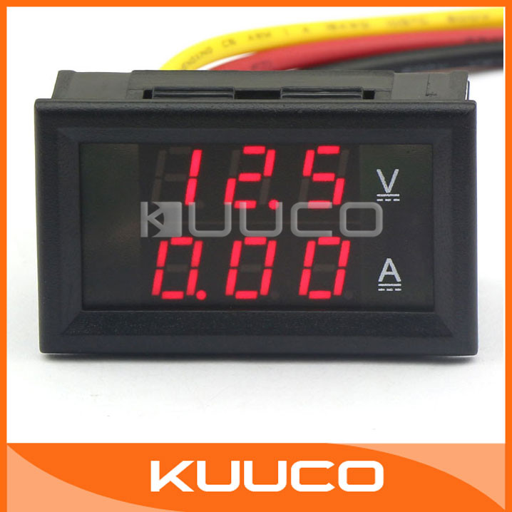 Thermometer Temperatur Anzeige AUTO 2in1 LED Dual Display Digital voltmeter