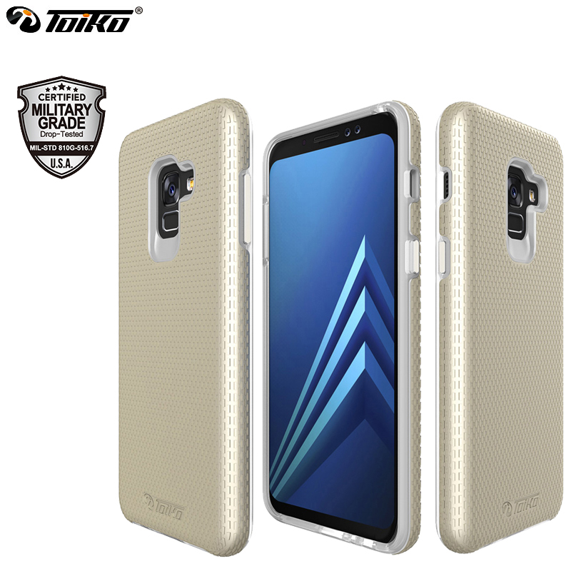 TOIKO X Guard 2 in 1 Hybrid Cases for <font><b>Samsung</b></font> Galaxy A8 2018 Back <font><b>Cover</b></font> A530 SM-<font><b>A530F</b></font> 2018 Dual Layer PC TPU Mobile Phone Shell image