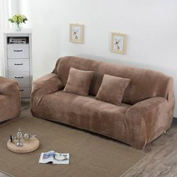 Stock Fleece warm Sofa Cover Slipcovers (only send Russian Address)