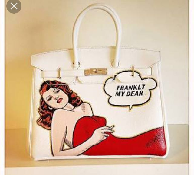 Graffiti Custom Women Messenger Bags Hand Painted bags painting Red clothes woman totes 35CM gold hardware loverly Female bags cute bear and rainbow women s bags female leather handbag lady totes messenger bags hand painted art bags design graffiti custom