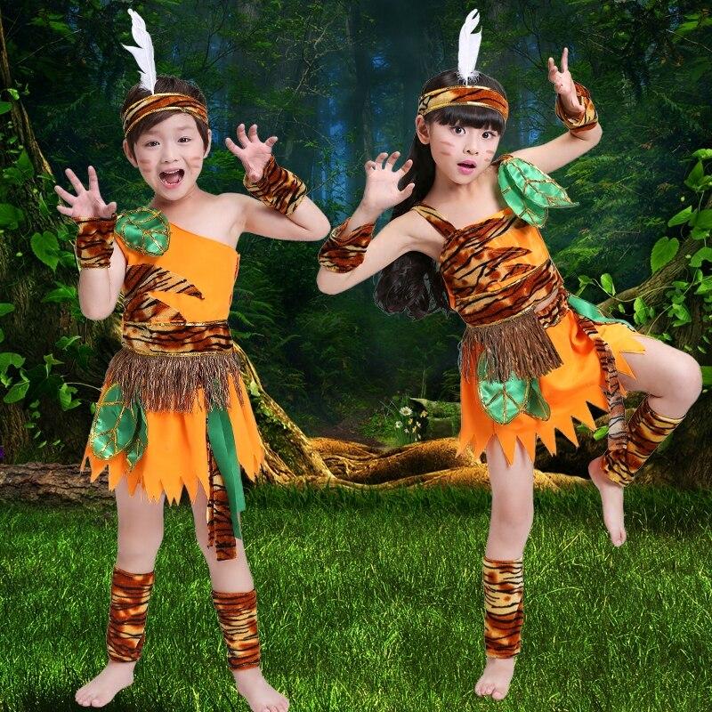 König Von Kinder Sagte Mir Kommen Zu Bergsteigen Tanzshow Indischen Nischen Savage Hunter Stadiumsleistungskleidung Reisen