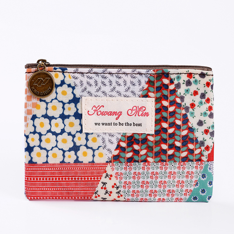 2018 Patchwork Travel Pocket Coin Purse For Women Girl Credit Card Organizer Waterproof Pouch Clutch Cute Wallet Dropshipping
