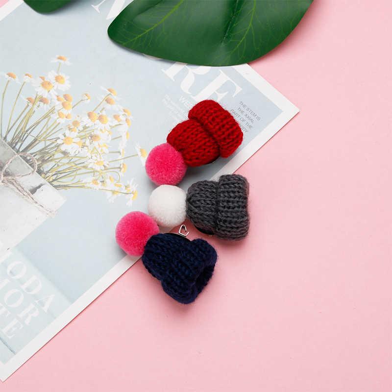 18-สีน่ารัก mini-ถักหมวกขนสัตว์เข็มกลัดเสื้อกันหนาว PIN Badge กระเป๋าหมวกปลอกคอ Creative Girl อุปกรณ์เสริมคริสต์มาสของขวัญ