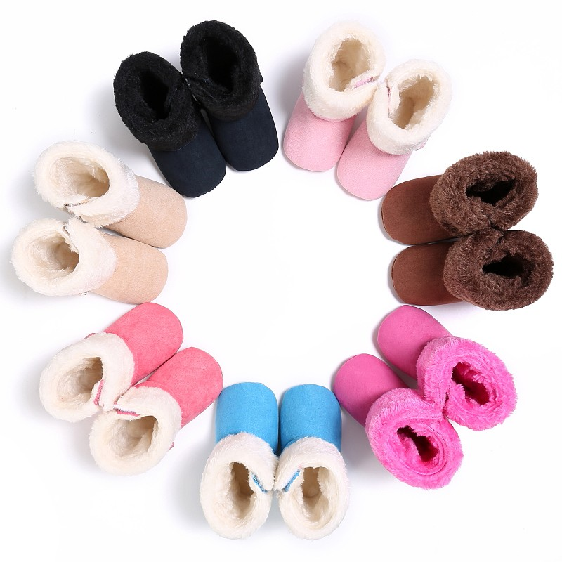 2017 Winter Super Warm Baby kinds Girls Soft Bottom First Walkers Infant Boys Thicken Snow Boots Shoes Warm Prewalkers 7 colors