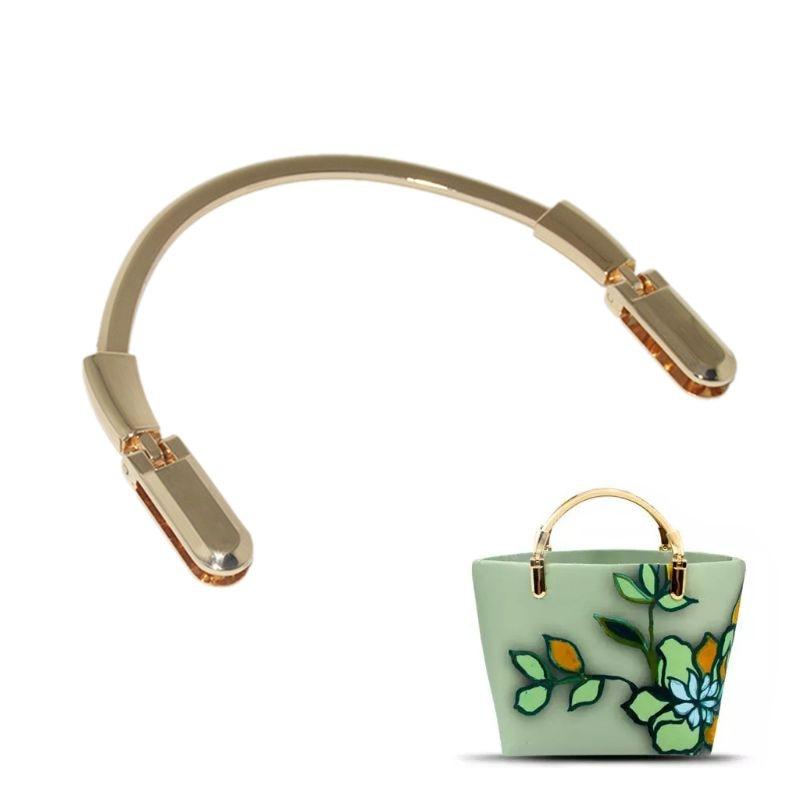 Gold Semicircle Metal Purse Making Handbag Bag Handle Replacement DIY Crafts DIY Bag Hardware Accessories Parts Purse Frame