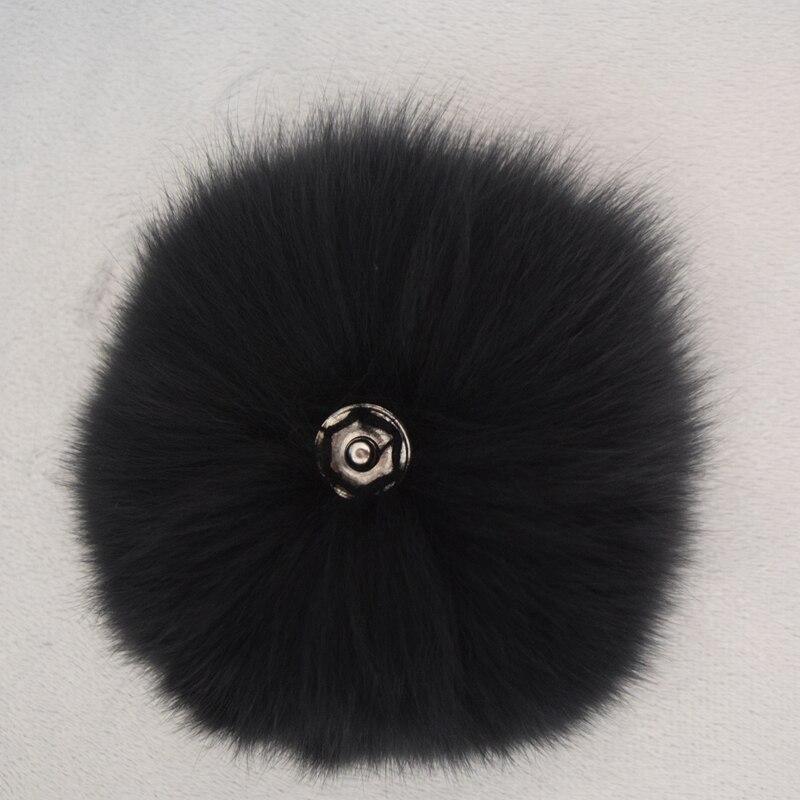 2017 Précipité Femmes Adulte Décontracté Géométrique Chapeau D'hiver Mode Réel Renard Boule Porte-clés Véritable Pompon Pendentif Sac Accessoires
