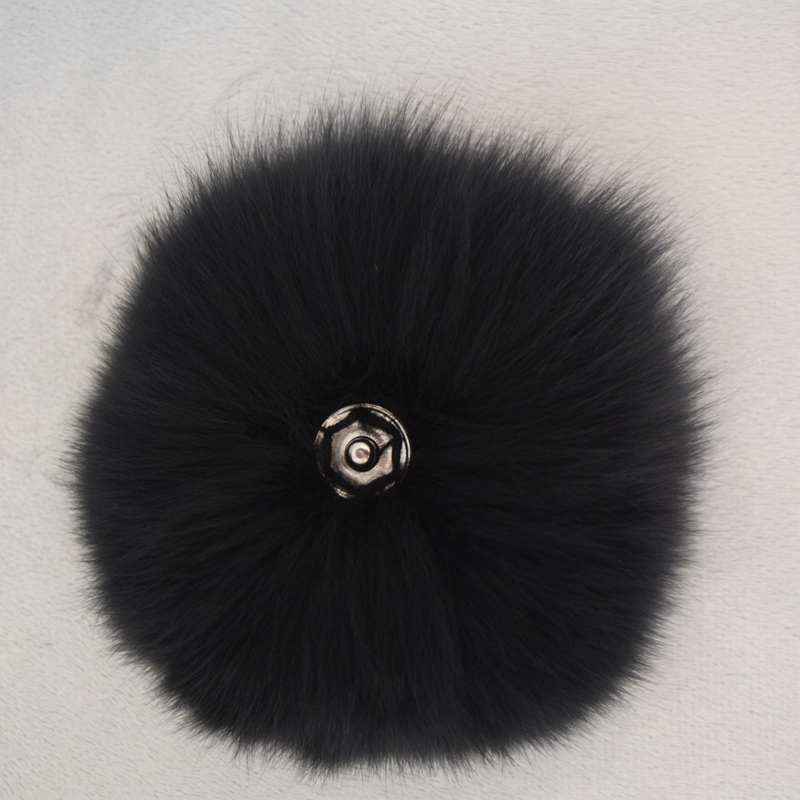 2017 hitenja Ženske za odrasle Casual Geometric Winter Hat Real Fox Ball Keychain Original Pompom Obesek Torba Accessoreis