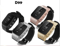 New D99 Elderly GPS Tracking Watch For Smart Phone GPS LBS Wifi Location Smart Watch For