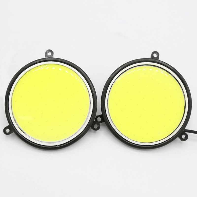 LED Car Modified Fog Lamp COB Daytime Running Light Waterproof Universal Large Round Super Bright Light For Auto