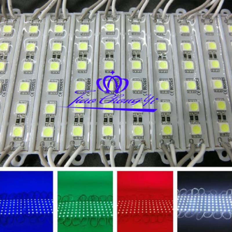DC12V 6LED Module SMD 5050 White warm white Red Green Blue Yellow Sign Design octopus adkeypad board module w jumper wire white blue red