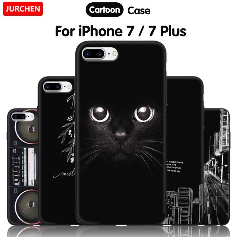 Jurchen Phone Case For Iphone 7 Plus 7plus Case Cartoon Cute Silicone Luxury Tpu Soft For Iphone Ihone Ipone 7 Plus Case Cover Aliexpress