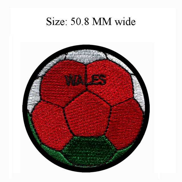 US $10 0 20% OFF Wales football embroidery patch 50 8 MM wide /twill  fabric/easy patser/iron backing-in Patches from Home & Garden on  Aliexpress com  