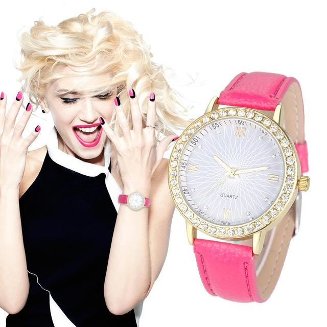 FUNIQUE Watch Women Diamond Dial Analog Casual Quartz Wrist Watch No waterproof