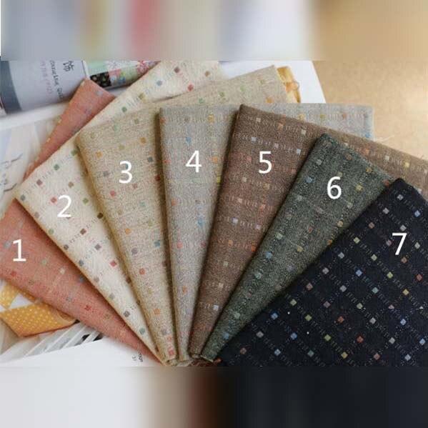 Fresco jacquard teñido de tela de algodón de diy fieltro tela de textiles para e