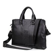 Laptop bag 14 inch laptop shoulder bag fashion brand laptop messenger bag leather bag for laptop luxury men briefcase handbag