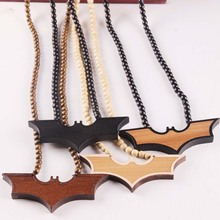Wood Batman Pendant (4 Colors)