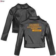ATEEZ 2019 New Clothes print Pink/Black PU Leather Jackets Women Riverdale Serpents Streetwear Leather Brand Coat plus(China)