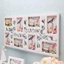 Белая мульти фоторамка рамки Любовь Семья картина Настенный декор фоторамка подарок