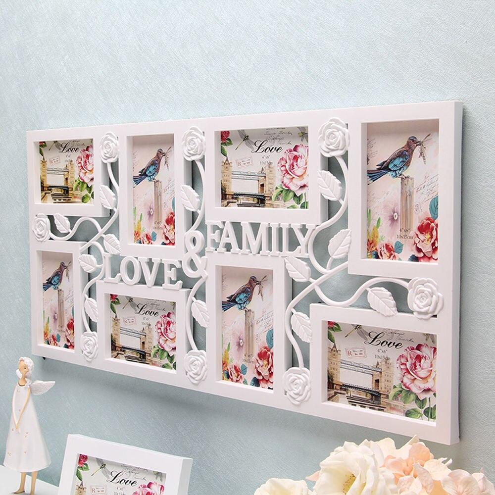 Weiß Multi Bilderrahmen Bilderrahmen Liebe Familie Bild Wand dekor ...