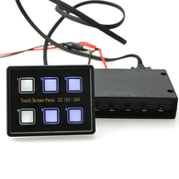 12V/24V 6 Gang Slim Thin Led Waterproof ABS Easy Installation Multifunction For Car Marine Boat Panel Switch Control Box