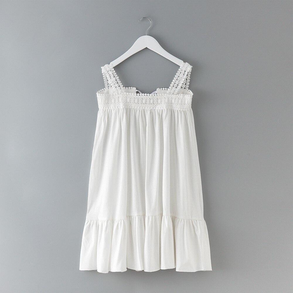 d479e4a04 De lino de algodón de las niñas adolescentes ropa púrpura blanco de los  niños vestidos de verano una línea de Bebé Vestidos de niñas 2018 vestido  en ...