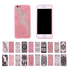 XBXCase Floral Sexy Lace Mandala Case For iPhone 6S 6 8 8 Plus Fashion Luxury Flower Transparent Cover For iPhone 7 7+Plus