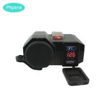 3 в 1 мотоциклетное водонепроницаемое зарядное устройство автомобильное зарядное устройство для мобильного телефона 12 в Usb Автомобильное зарядное устройство для Xiaomi huawei iPhone samsung S9 S10 Plus