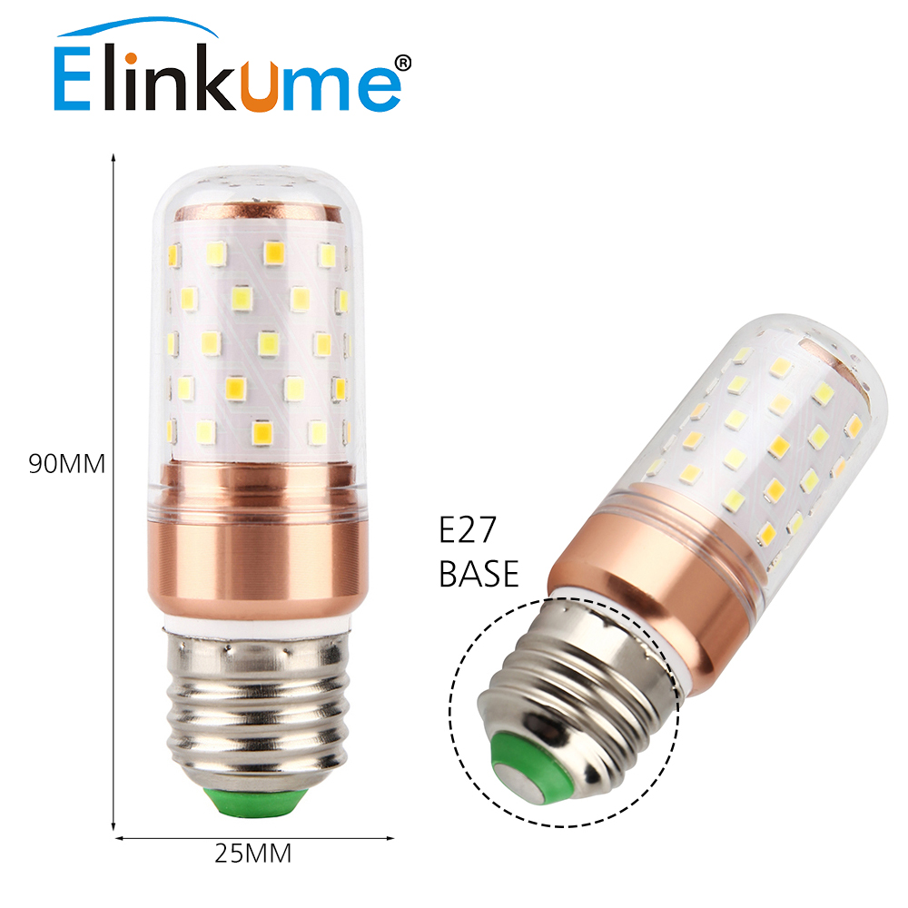Elinkume led bulb e27 e14 corn bulb 3 color temperature lamp 6w elinkume led bulb e27 e14 corn bulb 3 color temperature lamp 6w golden led lampen 110v 220v bombillas smd2835 light in led bulbs tubes from lights parisarafo Image collections