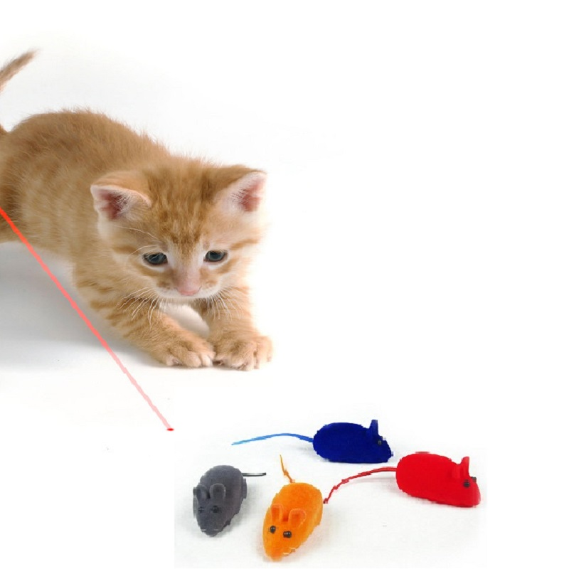 1Pc Pets Entertainment Little Cat False Mouse Kitten Dog Playing Toy Rat Squeak Noise So ...