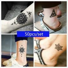 50pcs/Set Black Henna Temporary Tattoo Sticker Mixture Designs for Sexy Women Body Art Fake Tattoo-in Temporary Tattoos from Beauty & Health on Aliexpress.com   Alibaba Group