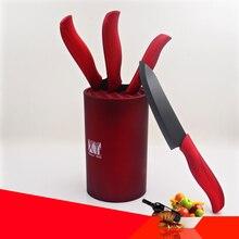 6 zoll roten messer stehen runde große kapazität keramische messer bloks beste qualität werkzeughalter schönheit küchenmesser ständer hot verkäufe